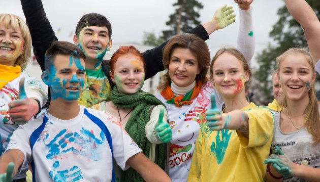 Первая леди поздравила участников фестиваля «Золотая осень Славутича-2018»