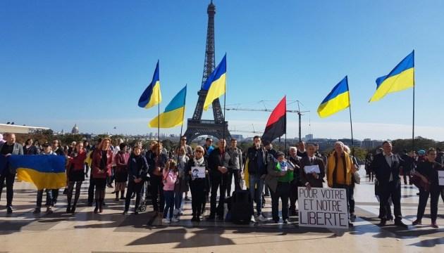 En France, les activistes manifestent en soutien à Roman Souchtchenko