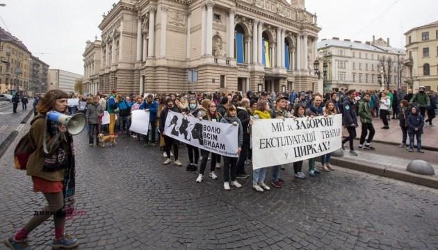 """""""Мех — кровавое жлобство"""": львовяне вышли на протест с домашними любимцами"""