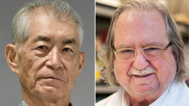Лауреати Нобеля з медицини: японець Тасуку Хондзьо та американець Джеймс Еллісон