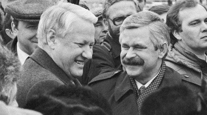 Борис Єльцин та Олександр Руцький
