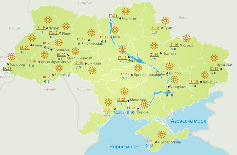До наступних вихідних в Україні буде тепло