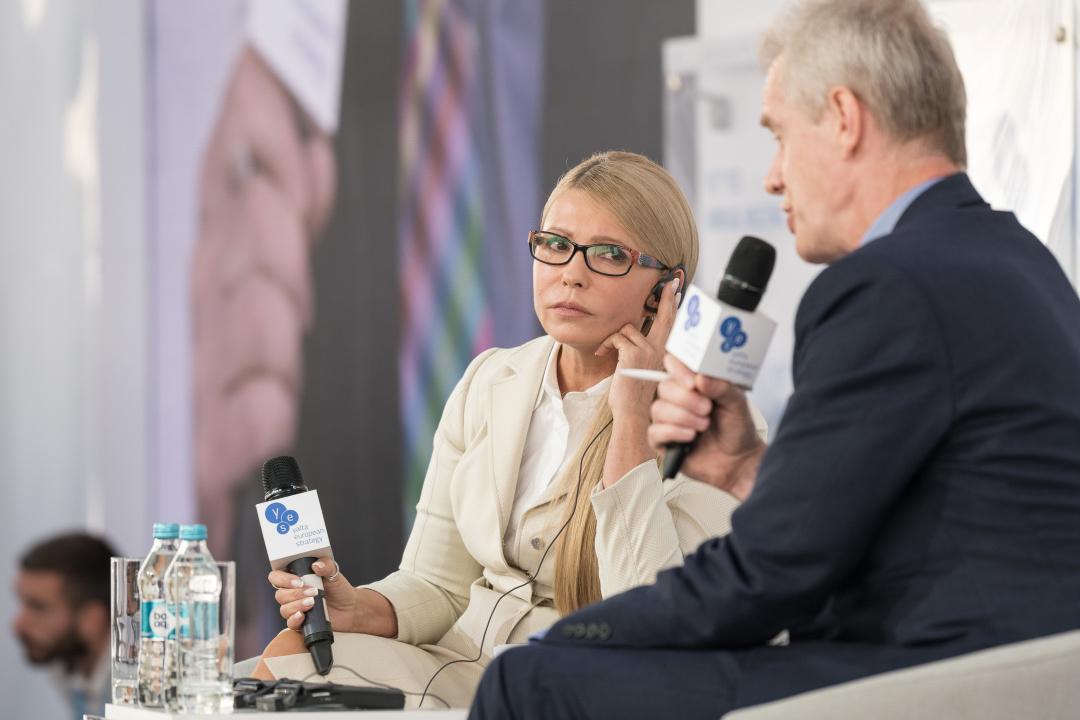 Юлія Тимошенко, Стівен Сакур. Фото: yes-ukraine.org