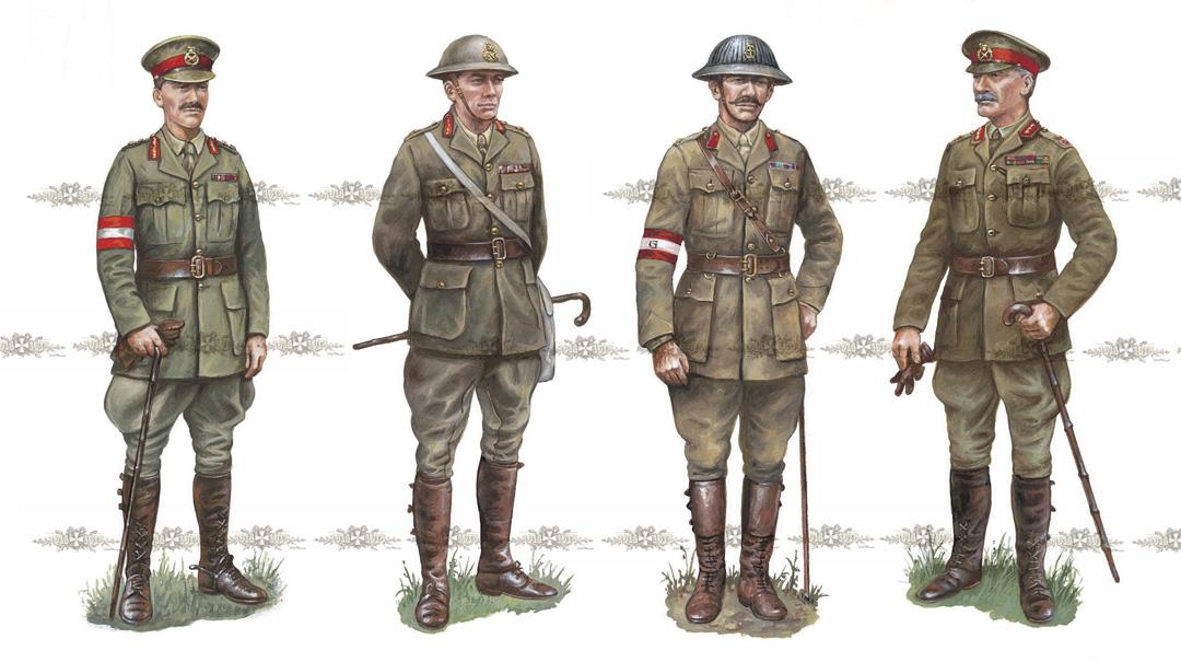 Британські офіцери (1915-1917 роки)