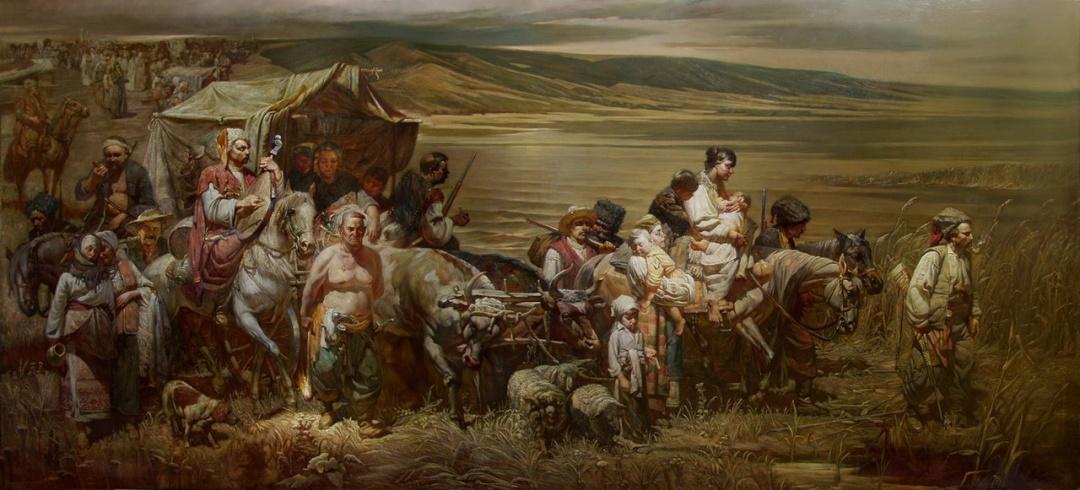 «Переселення запорозьких козаків на Кубань». Художник Геннадій Квашура