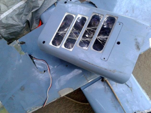 12 об'єктивів збитого дрона / Фото: Facebook