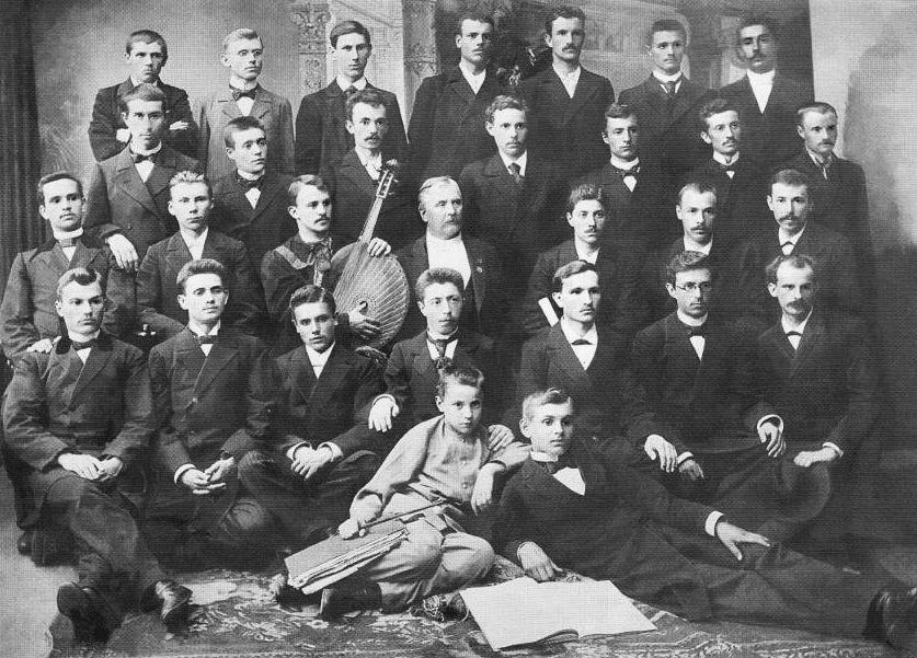 Київська Громада, 1874 рі.; 18-й ліворуч - Микола Лисенко
