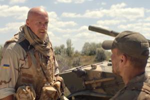 """Українським військовим на передовій показали фільм «Позивний """"Бандерас""""»"""