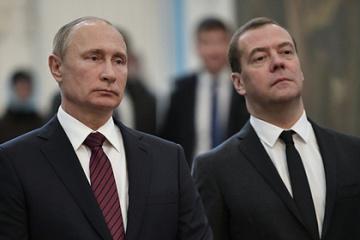 プーチンとメドヴェージェフ、ロシア国民の間で信頼ない政治家トップ3に