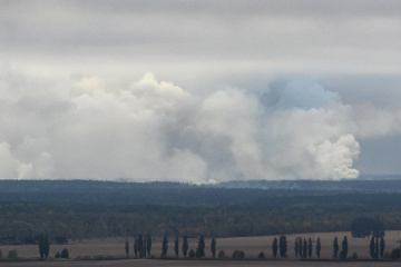 Defense Ministry: Fire at arms depots in Chernihiv region contained