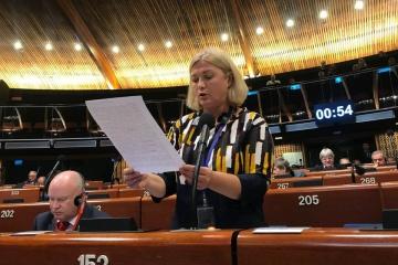 ヘラシチェンコ国会第一副議長「欧州評議会議員総会のプーチン支持者は本日恥ずかしかったことでしょう」
