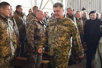 ポロシェンコ大統領、統一部隊に対し、武装集団からの攻撃にはあらゆる武器での対応を命令