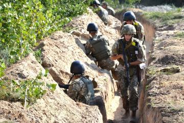 Donbass: Besatzer brechen fünf Mal Waffenruhe, bei Schyrokyne Mörser im Einsatz