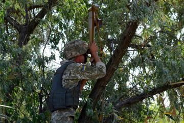 Donbass : Les Russes continuent d'utiliser des armes lourdes