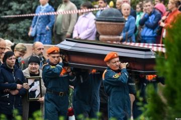 Kertch fait ses adieux aux victimes de l'acte terroriste