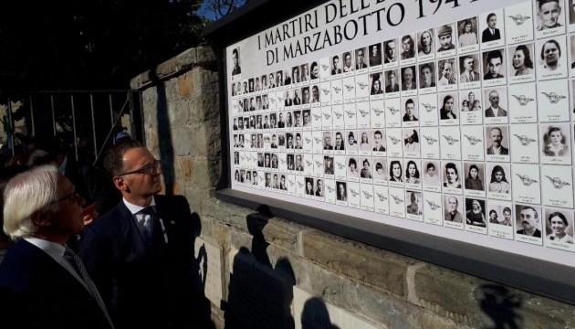 Глава МИД Германии почтил память жертв нацистов