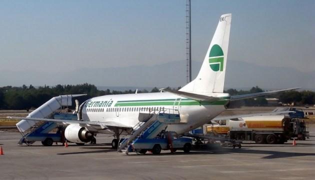 В турецком аэропорту самолет