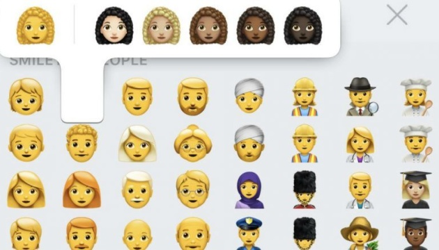 Кучерявые, седые и лысые: Apple показала более 70 новых эмодзи