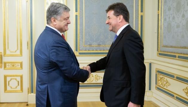 Poroshenko, Lajcak discuss release of Kremlin's political prisoners