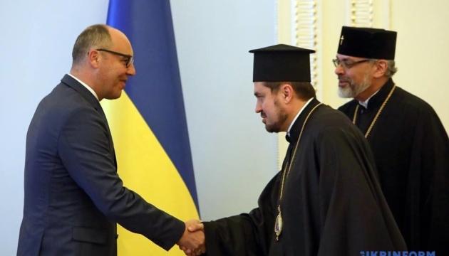 Andriy Paruby a rencontré les exarques du patriarche œcuménique