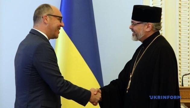 Парубий встретился с экзархами Вселенского патриарха