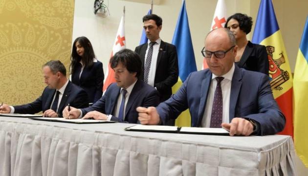 Парубій розповів парламентаріям Грузії та Молдови про ЛитПолБриг