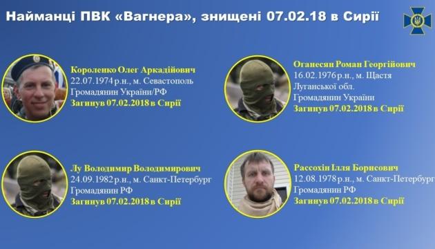 ウクライナ保安庁、露民間軍事会社「ワグナー」傭兵206名の情報公開