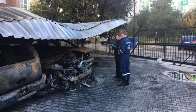 В Одессе неизвестные сожгли пять автомобилей