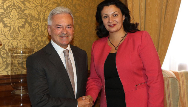 Климпуш-Цинцадзе обсудила в Лондоне британские визы для украинцев
