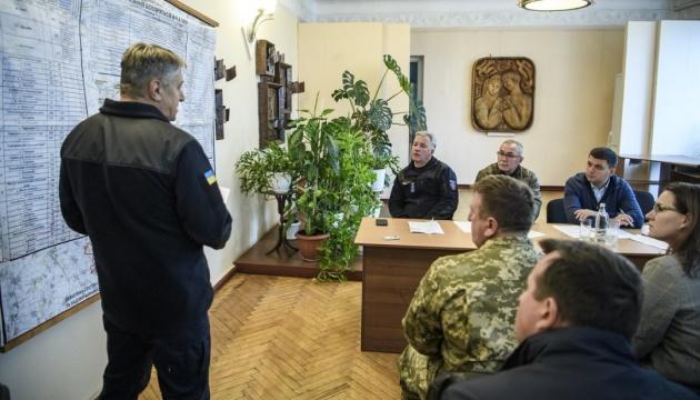 Explosionen in Munitionsdepot: Regierungschef Hrojsman in Region Tschernihiw eingetroffen