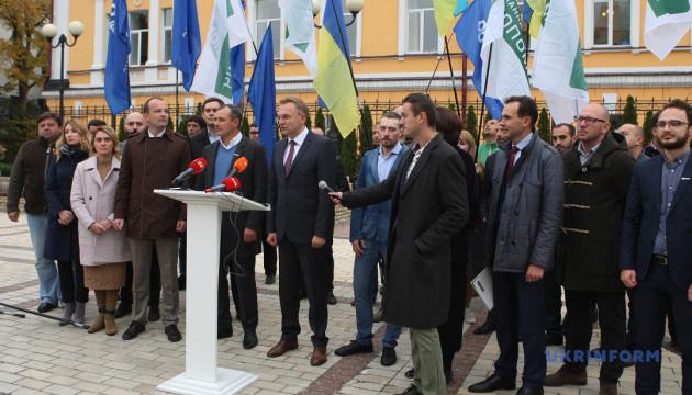 Самопомич и ДемАльянс выдвинут Садового кандидатом в президенты