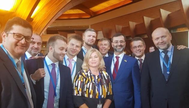 Gerashchenko: Los partidarios de Putin en la APCE estaban avergonzados
