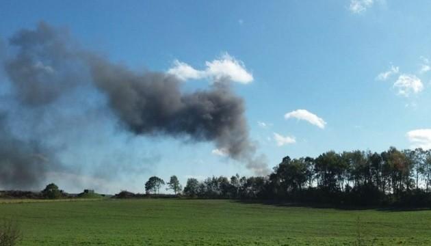 У Бельгії на військовій базі згорів винищувач, є потерпілі