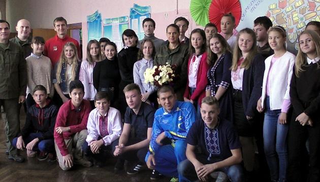 Спортсмены Национальной гвардии Украины провели урок мужества