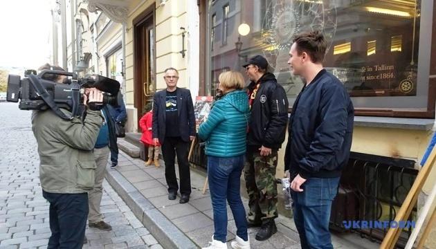 У Таллінні пікетували посольство РФ на підтримку українських політв'язнів