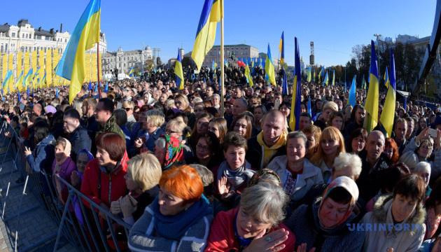 На Софійській площі відбувся молебень за Україну і автокефалію УПЦ