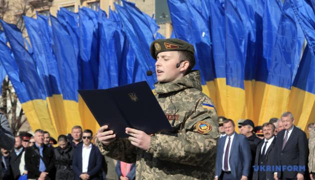 В Харькове приняли присягу учащиеся военных лицеев и Кадетского корпуса