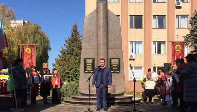 У Коростені відкрили пам'ятник загиблим на Донбасі героям