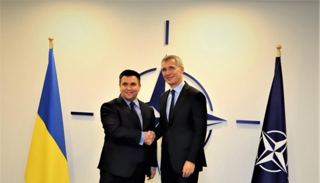 Klimkin, Stoltenberg discuss unblocking of Ukraine-NATO Commission