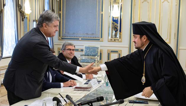 Treffen von Poroschenko mit Exarchen des Ökumenischen Patriarchats - Video
