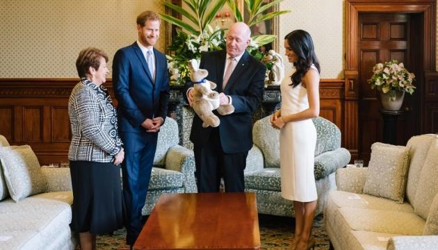 Меган Маркл в Австралии подарили кенгуру