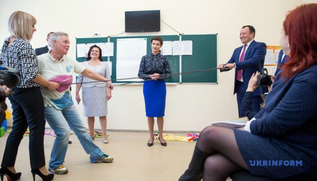 Марина Порошенко взяла участь у створенні інклюзивної школи у Мелітополі