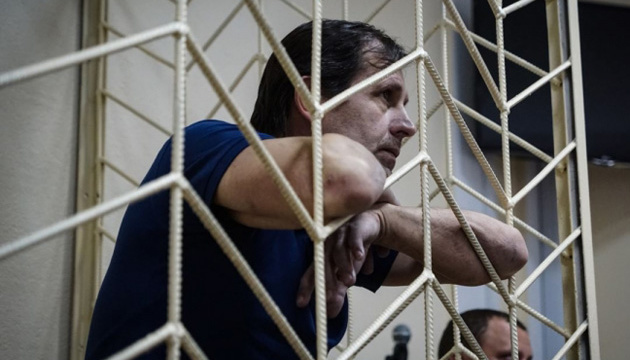 Volodymyr Balukh convoyed to penal colony in occupied Crimea