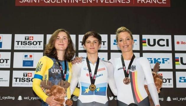 Украинки выиграли две медали на Кубке мира по велотреку