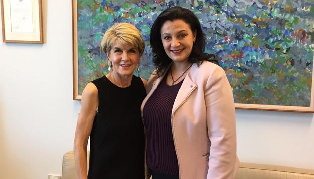 Klympush-Tsyntsadze llama a Australia a profundizar el diálogo político