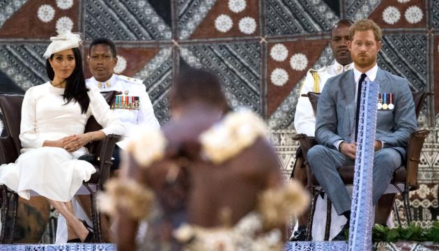 Принц Гарри и Меган Маркл прилетели на острова Фиджи
