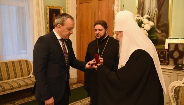 Патриарх Филарет наградил главу Ривненской ОГА орденом князя Владимира