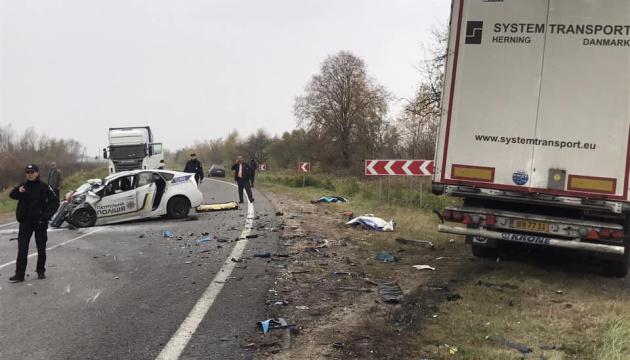 На Львівщині помер патрульний, який постраждав у ДТП з фурою