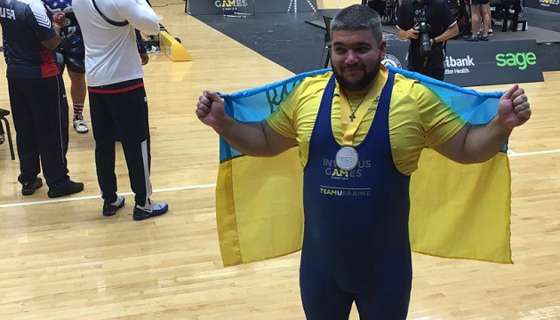 Yevhen Oleksenko wins silver in powerlifting at Invictus Games