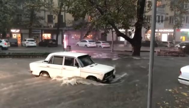 В России целый город ушел под воду из-за мощного ливня